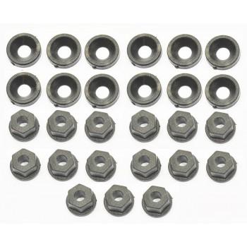 Washer/nut nylon M3 (12+15)