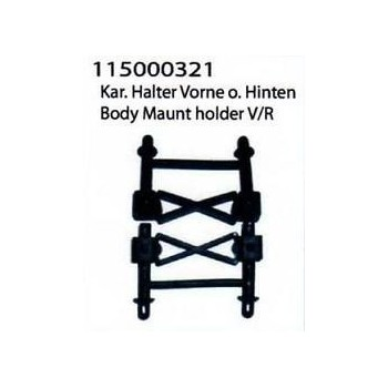 Body mount holder front+rear