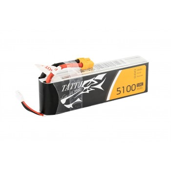 Tattu 5100mAh 11.1V 10C 3S1P Battery Pack