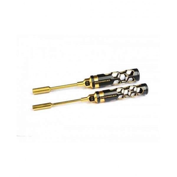 Arrowmax NUT DRIVER sæt 2dele 100mm Black/Golden