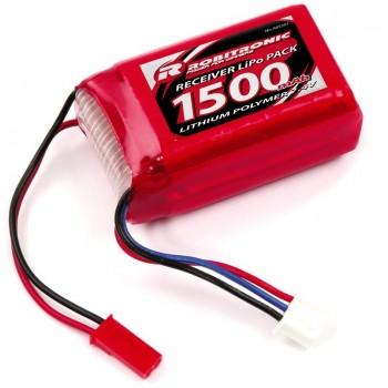 LiPo RX Pack AAA Hump Size 1500mAh 7,4V (EH)