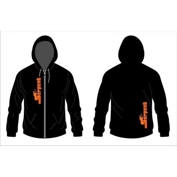 Hoody Sweater Serpent black zip (S)