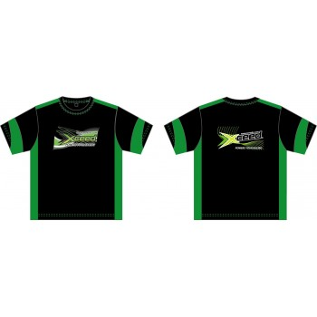 T-shirt (dry-fit) black-green Xceed (S)