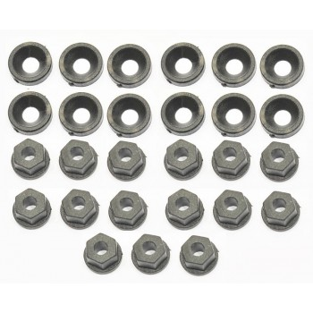 Washer/nut nylon M3 (12+15)