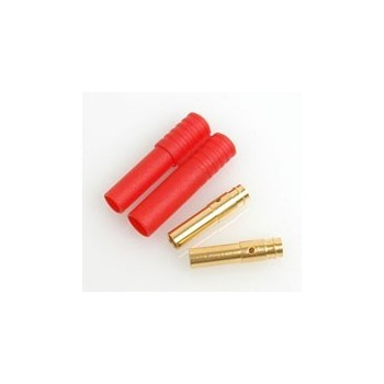 CORE RC RED Connector with 2x4mm Tubes