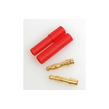 CORE RC RED Connector with 2x4mm Males