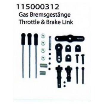 Throttle & brake link