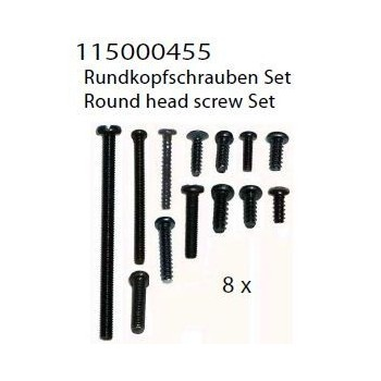 round head screw set
