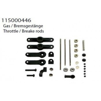 throttle + brake rods