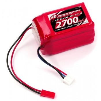 LiPo RX Pack 2/3A Hump Size 2700mAh 7,4V (EH)