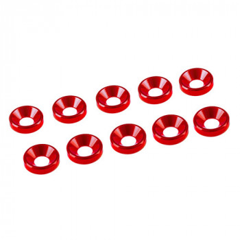 3 MM. ALU. WASHER RED (10 PCS)