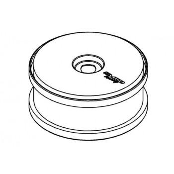 Wheel White Dish Disc 180 mm